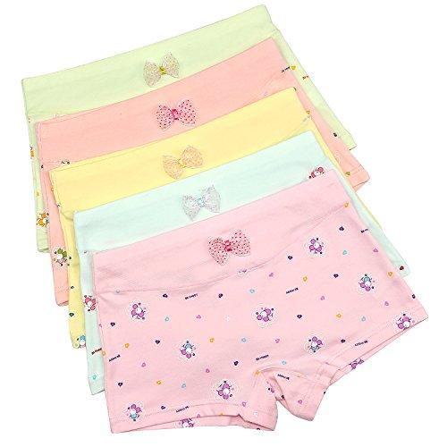 Girls Underwear, Kereda 5-Pack Toddler Underwear Flower Print Cotton Little Girls Boxer Briefs Panties(3t-9t) - Cotton Print Briefs
