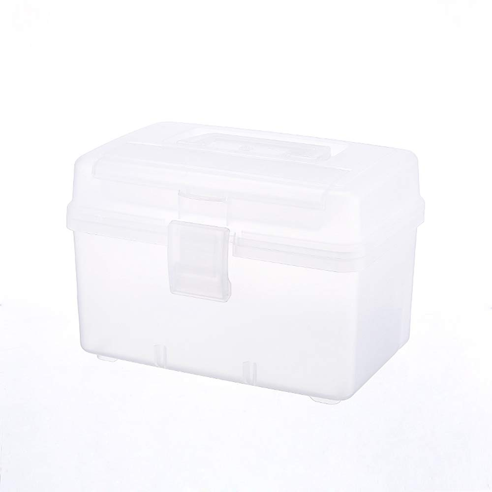White YangXu Medical box-PP material, light and easy to take moisture and dustproof, thick and durable easy to clean multi-function large capacity, household multi-layer medical kit emergency medicine stora