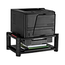 "Mount-It! Printer Stand Monitor Riser With Drawer, Height Adjustable Smart Desk Organizer, Two Shelves 19 x 13 Inch, 7.6"" High"