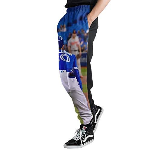 Lovesofun Toron-to Blue Jay-s Men's Casual Jogger Sweatpants Sports Trousers Pant Elastic Waist M ()