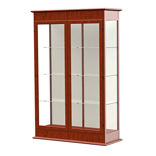Waddell Varsity Hinged Doors Lighted Display Case, 48W by 77H by 18