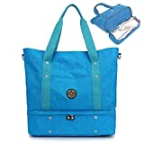 Nylon Travel Tote Shoulder Bag Large Waterproof Weekender Bag Lightweight Duffle Bag Carry