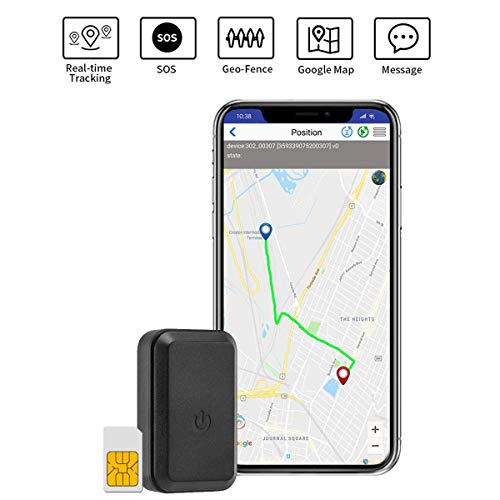 GPS Tracker Mini Portable Car GPS Tracker SOS Real-time Tracking Device GPS Locator Sim Card Included 3 Month Data Plan GPS Finder for Vehicles Kids Dogs Cats Keys Motorcycles Pets