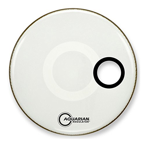 Aquarian Drumheads RSM20WH Regulator White 20-inch Bass Drum Head, gloss white