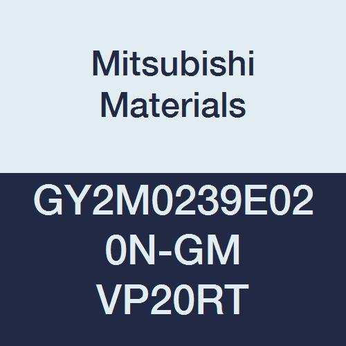Mitsubishi Materials GY2M0239E020N-GM VP20RT Series GY Carbide Grooving Insert for Grooving/Cutting Off and Medium Feeds 2 Teeth, E Seat, 0.094'' Grooving Width, 0.008'' Corner Radius (Pack of 10)
