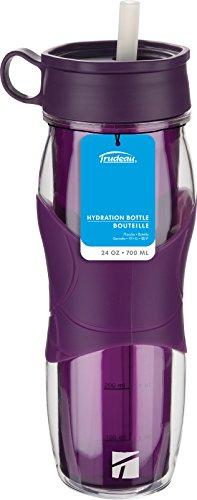 Trudeau Cool Off 24-Ounce Hydration Bottle, Purple