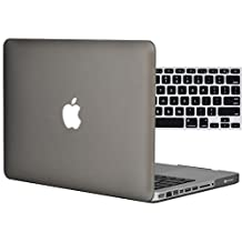 """Easygoby 2in1 Matte Frosted Silky-Smooth Soft-Touch Hard Shell Case Cover for 13-Inch MacBook Pro 13.3"""" [Non-Retina] (Model: A1278)+ Keyboard Cover - Gray"""