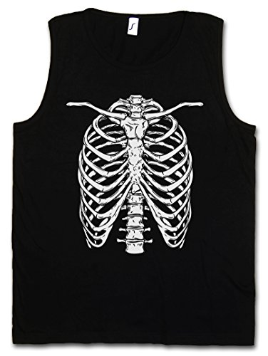Skeleton I Vest Tank TOP - os squelette Faucheuse moissonneur Mort Bones Halloween Karneval Skull Fear The Black