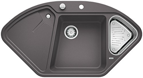Blanco DELTA II, Küchenspüle, Granitspüle aus Silgranit PuraDur, 1 Stück, felsgrau, 521253