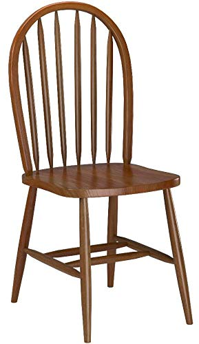 4 Dark Oak Stain Kitchen Dining Arrow Back Chairs Set, used for sale  Delivered anywhere in USA