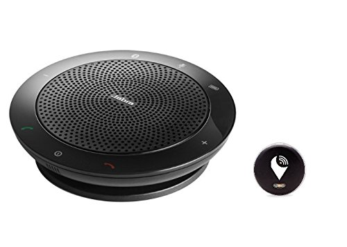 Jabra Speak 510 Wireless Bluetooth Speaker for Softphone and Mobile Phone (U.S. Retail Packaging) and TrackR pixel Black