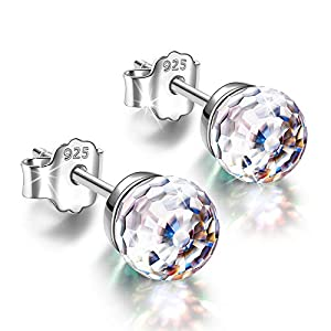 Alex Perry Earrings Gifts for Women, Fantastic World Series Stud Earrings Presents for Her, 925 Sterling Silver, 6mm…