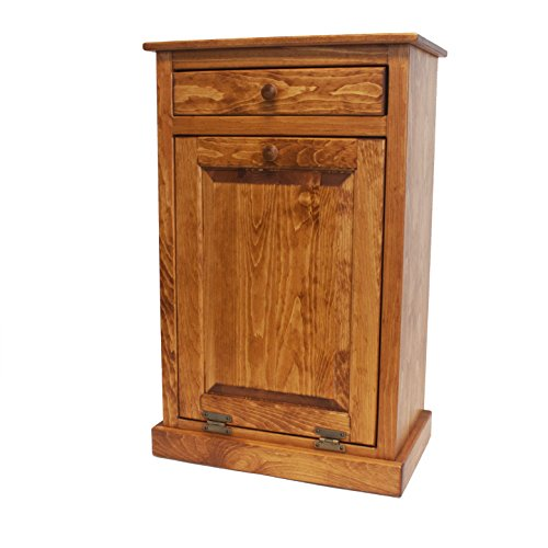 Pine Tilt Out Trash Bin (Autumn Wheat)