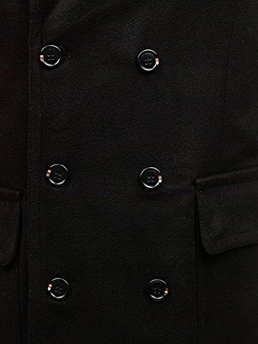 1048 Negro Invierno MIX BOLF De Hombre Abrigo UXnPwYHv