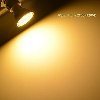 TBAO GU10 Halogen Light Bulbs LED Spotlight 60LEDs Cold White Warm White AC220-240V Light Bulb