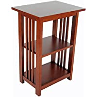 Alaterre Artisan 2-Shelf End Table, Cherry