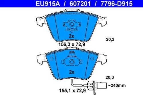 Scheibenbremse ATE 13.0460-7201.2 Bremsbelagsatz