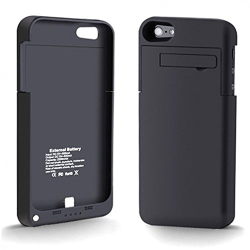 Selna Black Battery Charger Case Portable External Power Pack Back Up for iPhone 5 and 5S (All Carriers, AT&T, T-Mobile, Sprint, Verizon, Boost, Virgin Mobile, Alltel, Net10, Straight Talk, Cricket and Unlocked) - (NOT for iPhone 5C)