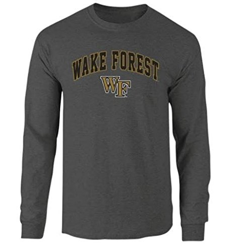 Wake Forest Demon Deacons Long Sleeve Tshirt Arch Charcoal - M