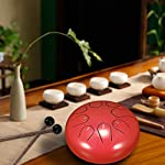 ShangSky Steel Tongue Drum Hand Pan Drum Tank Hang Drum With Sticks Carrying Bag Percussion Instruments for Mind Healing…