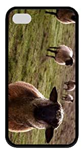 cover carrying sheep TPU Black Case for iphone 4/4S