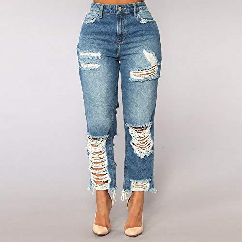Talle Jeans Tallas Mujer Pantalones Azul Alta De para Alto Mujer Vaqueros Vaqueros Cintura Claro De Pantalones Tallas EláSticos Mujeres Rawdah Pitillo Grandes Grandes pnZwx5Iw4