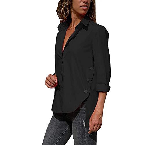 t Crop Unie Chemise Top Sweatshirts Mode Irrgulier Femmes Dcontracte Haut Couleur Automne paule Longue Top Sexy Vetements Blouse T Overmal Rond Manches Noir et Chic Shirt Lache Col xB0qIIfH