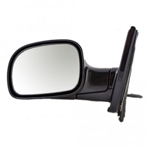 MiniVan Power Heated Side View Door Mirror Black Assembly Driver Left ()