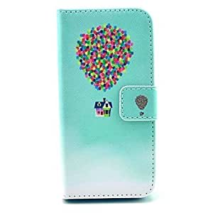LCJ Flying Balloon and House Pattern PU Leather Cover with Stand and Card Slot for iPhone 6 Plus by ruishername