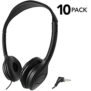 SmithOutlet 10 Pack Over The Head Low Cost Headphones