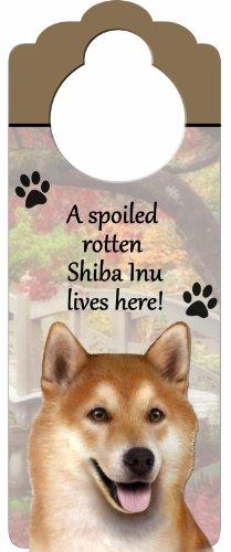Shiba Inu Wood Sign