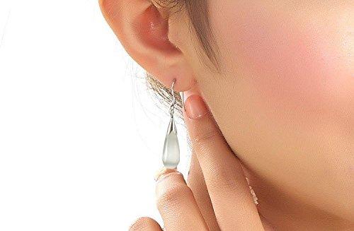 Opale goccia collana e orecchini set placcato in oro bianco 18/K