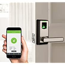 2017 New Arrival! ZKTeco Biometric Bluetooth Door Lock- Keyless Home Entry with Your Smartphone & Fingerprint