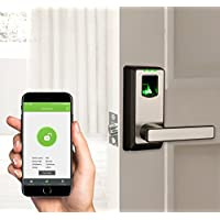 ZKTeco Bluetooth Fingerprint Biometric Smart Door Lock- Keyless Home Entry with Your Smartphone