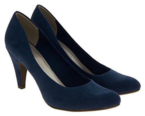 court talons suède moyen Faux Femmes chaussures Marco Bleu Tozzi qUSY7nxP
