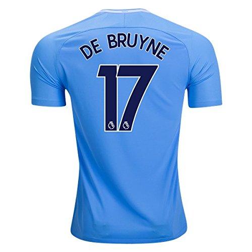 百科事典ブリーフケースあえぎDe Bruyne 17 Manchester City 17 / 18サッカージャージーメンズホームカラーブルーサイズXL