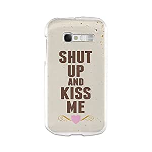 Funda Gel Alcatel One Touch Pop C5 BeCool Shut Up and Kiss Me
