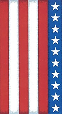 Distressed American Flag Beach Towel Stars Stripes Egyptian Cotton 40 X 72