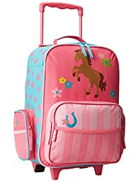 Stephen Joseph Little Girls' Rolling Luggage, Girl Horse, One Size, 1 Pack