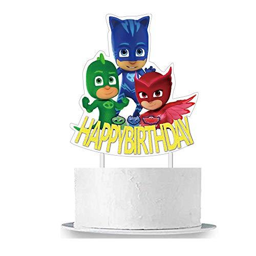 PJ Masks Birthday Cake Topper (Cake Topper Mask)