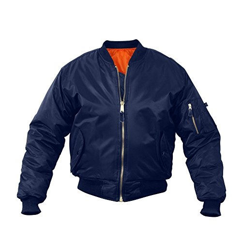Rothco Kids Ma-1 Flight Jacket-Navy Blue, M Size (Navy Blue Kids Flight Jacket)