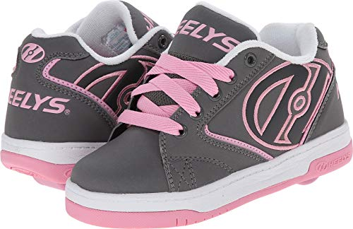 Heelys Propel Skate Shoe , Grey/Pink, 4 M US Big -