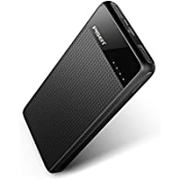 Pisen 10000mAh Portable Power Bank with 2 USB Charging Ports (Black)