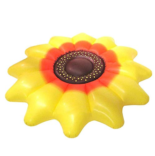 Inflatable Sun Flower Floating Row Adults Kids Summer Beach Toy Swimming Pool Party Lounge Raft-Yellow by WYL (Image #8)