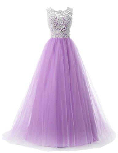 Quinceanera Dress Dresses Long Women's Lavender 2016 Prom Fanciest Ball Gown Lace 6qPZFqw8
