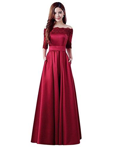 Vestido Corte Para Imperio Drasawee Mujer Vino Rojo qZdFnxO