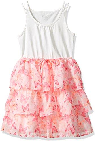 The Children's Place Little Girls' Sleeveless Casual Dresses, Rosette 7766, XS (4) (Rosette Sleeveless)