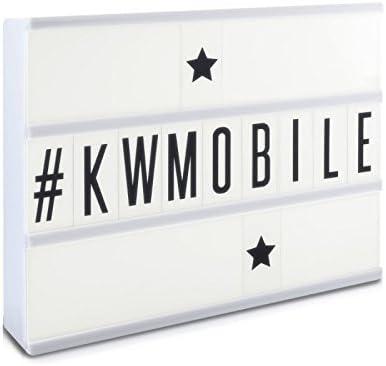 D,casa - Caja de luz Lightbox Color Blanca con 3 líneas con 85 Letras: Amazon.es: Hogar