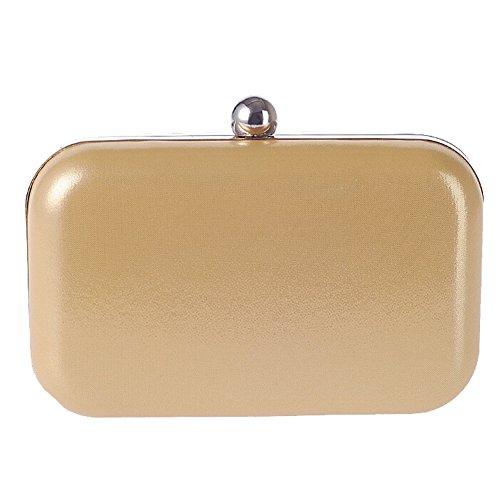 Women Handbag Wedding Bag Hattie Evening For PU Hard Gold Party Box Small Gold Shoulder YZpywdpqgx
