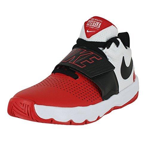 Nike Kids Team Hustle D 8 (GS) University RED Black White Size 6